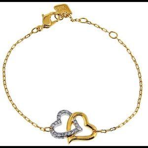 Swarovski Interlocking Crystal Hearts Bracelet!